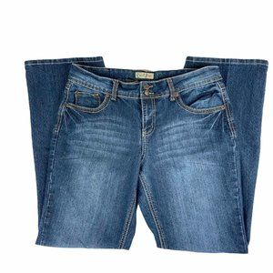 Earl Jeans Size 12 Straight Leg Thick Stitch